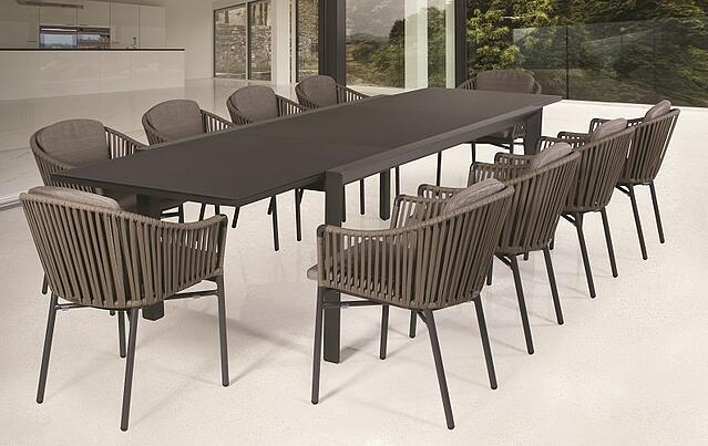 Grande Extendable outdoor table with Xanadu Dining Chairs.jpg